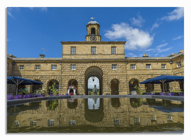 A day away at Chatsworth. Stable fountain.