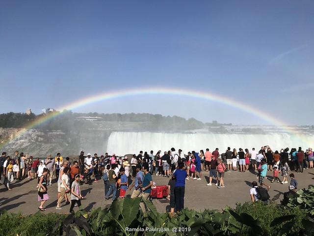 Colors!!! Rainbow over Horseshoe falls