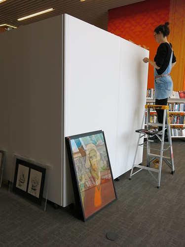 Installation of the Phoenix exhibition