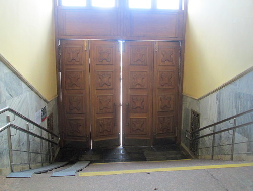 St Petersburg  station doors, Russia