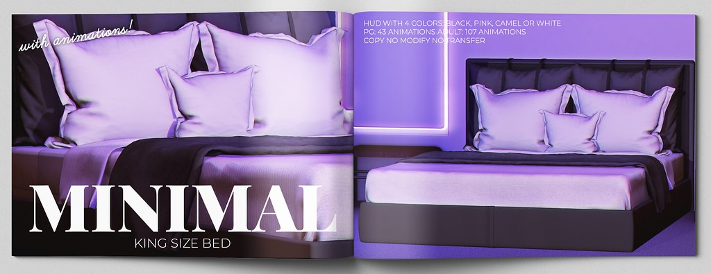 MINIMAL – King Size Bed  @ equal10