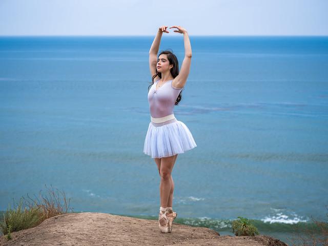 Fine Art Ballet Portraits Pretty Ballerina Dancer Dancing Classical Ballet! Fujifilm GFX 100 Medium Format Mirrorless Camera Malibu Beach! Fine Art Ballet Photography Leotard Tutu Ballet Slippers! Fujifilm GF 100-200mm f/5.6 R LM OIS WR Zoom Lens Fujinon!