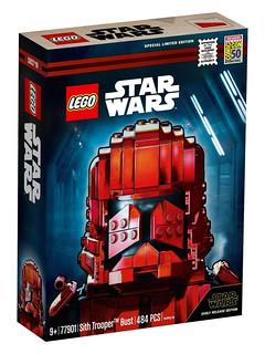 超搶眼的全新兵種登場! LEGO 77901《STAR WARS:天行者的崛起》西斯士兵胸像 Star Wars Sith Trooper Bust【2019 SDCC 限定】