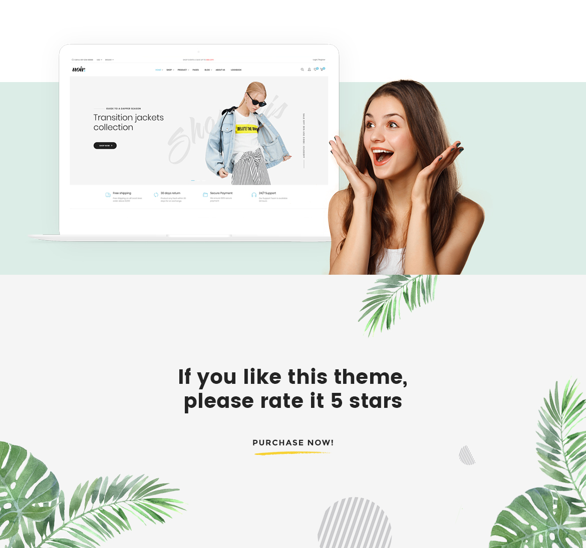 If you love Noir Prestashop Theme Fashion, please rate it 5 stars