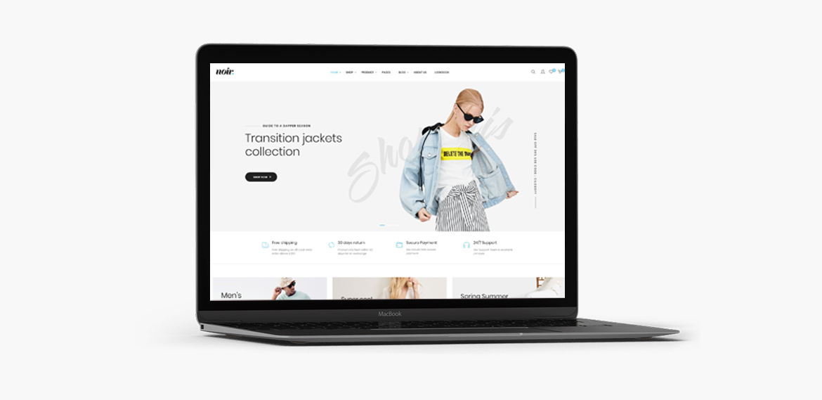 Revolution Slideshow-Leo Noir Prestashop Fashion Theme
