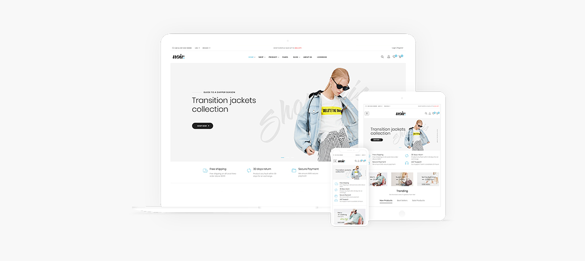 Fully Responsive-Leo Noir Prestashop Fashion Theme