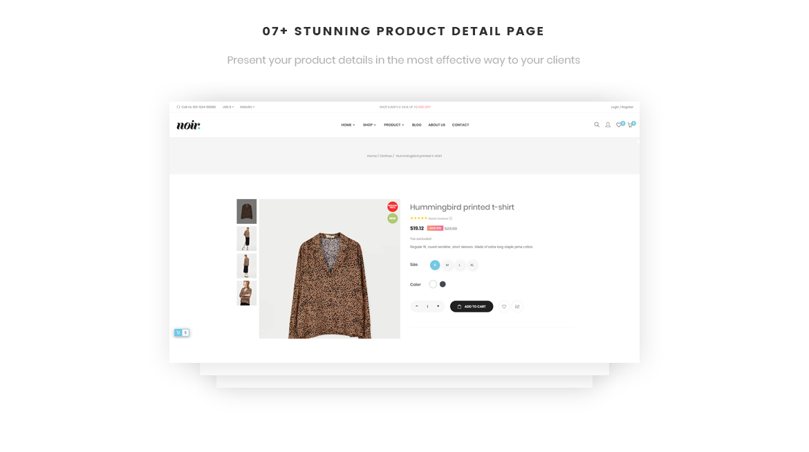 07+ Impressive Product Page layouts-Leo Noir Prestashop Fashion Theme