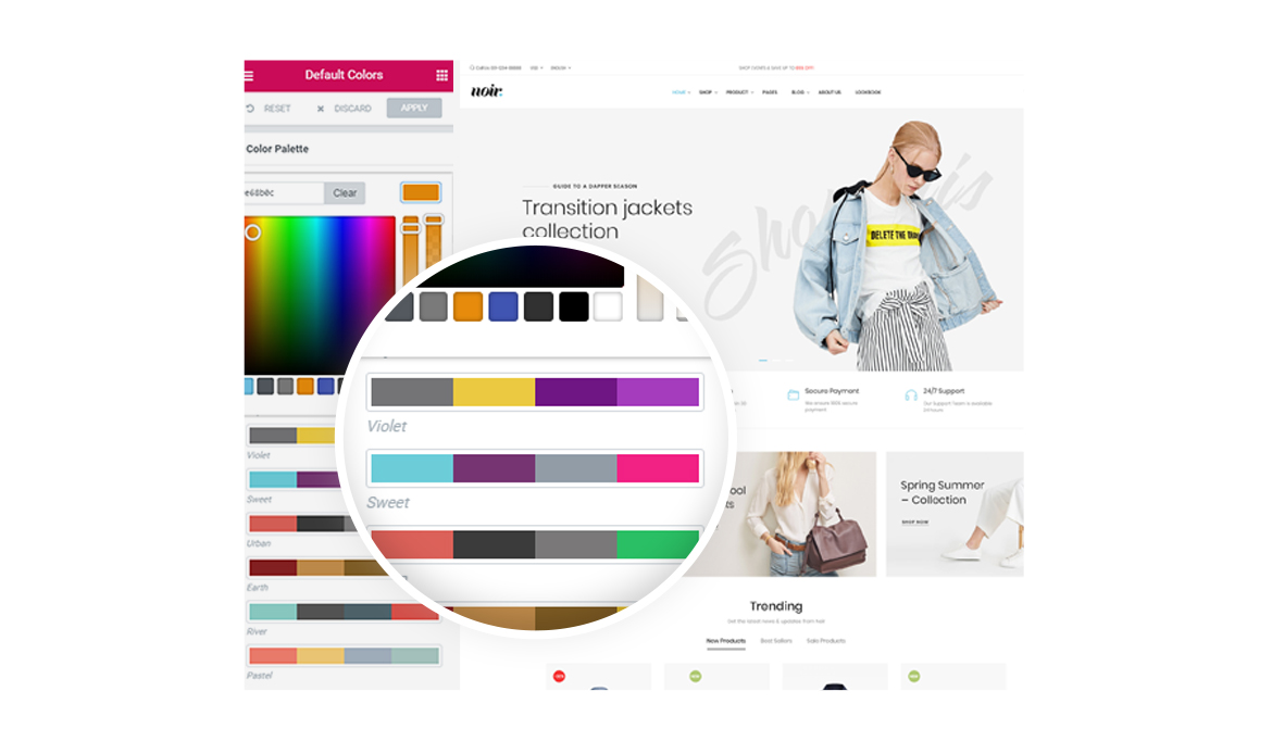 Unlimited Color Skins-Leo Noir Prestashop Fashion Theme