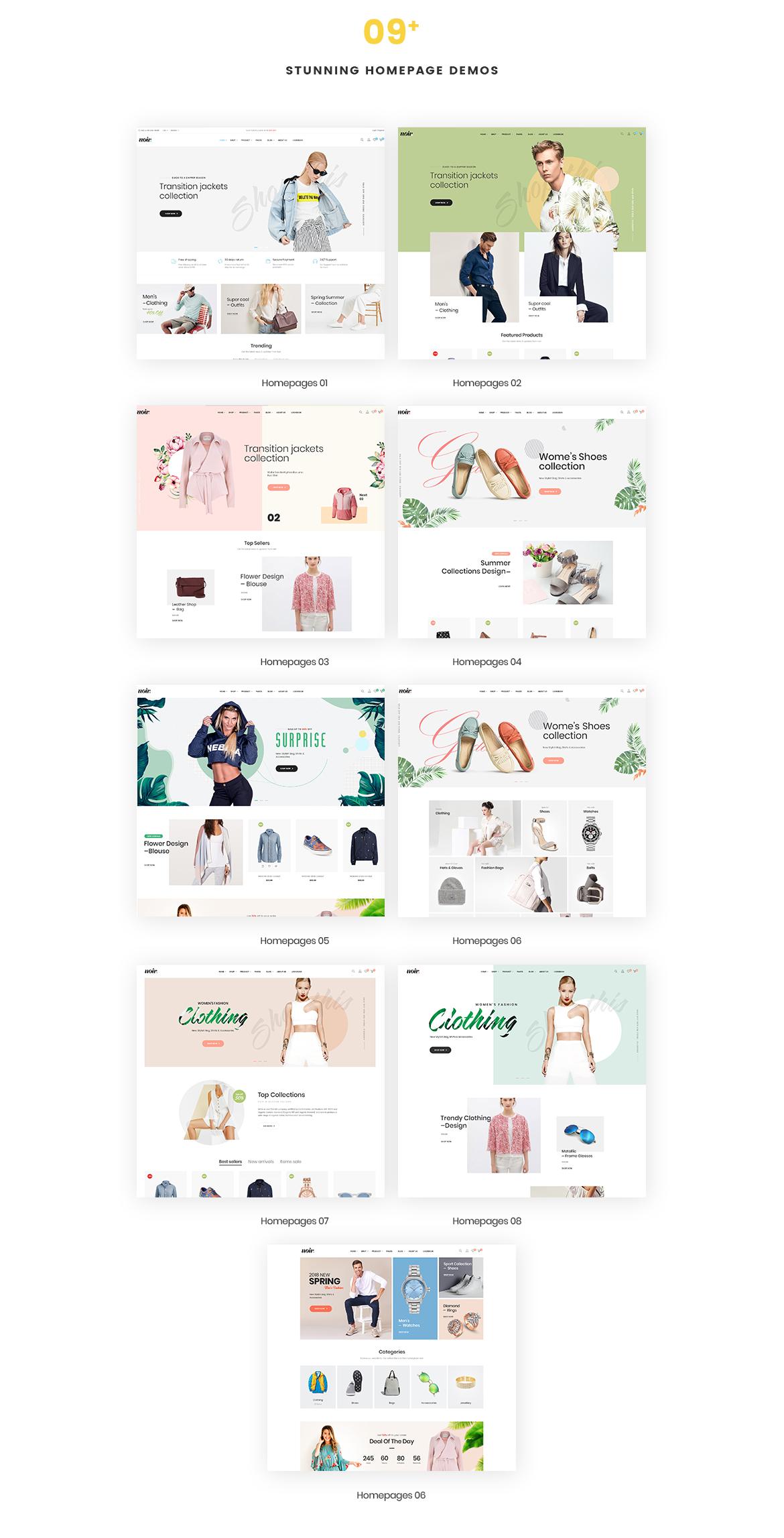 09+ Stunning Homepage Demos-Leo Noir Prestashop Fashion Theme