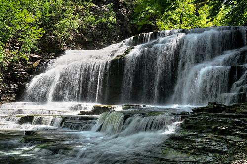 cascadilla gorge ithaca ny newyork waterfall falls water motion nature