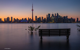 View of Toronto skyline from flooded Toronto Island | by Phil Marion (187 million views - THANKS)