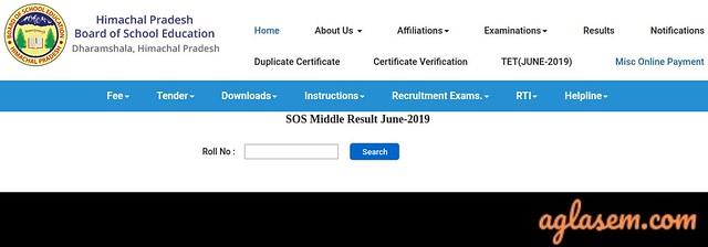 HP SOS 8th Result June 2019