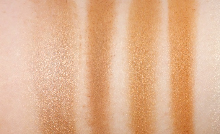 bronzing season swatches