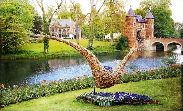 Floralia Brussels, Lac et parc du Château de Grand Bigard, Dilbeek, Brabant flamand, Belgium