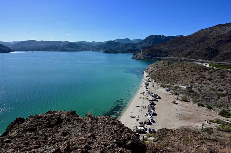 View of the bay and Playa Escondida