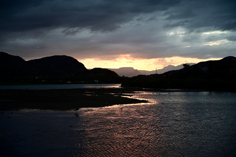 Sunset over Río de Santa Rosalía, Mulegé