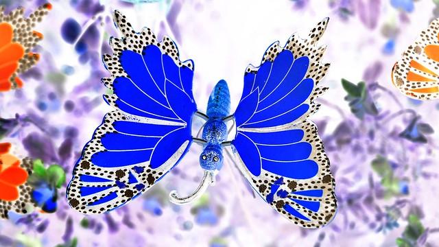 Schmetterling Kunstwerk Negativ in Wassertrüdingen