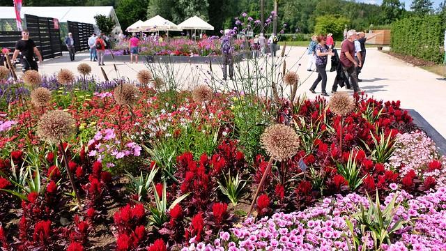 Blumenbeet im Wörnitzpark Wassertrüdingen