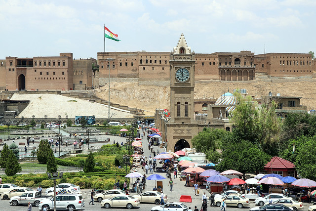 Main square just below the Citadel in Erbil, Kurdistan