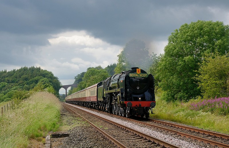 70000 approaching Newbiggin with the southbound Fellsman on 10/7/2019.Despite appearances,this was not a trespass shot Copyright David Price No unauthorised use