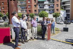 El alcalde Juan Carlos Abascal ha estado acompañado por la Corporación ermuarra en el acto en recuerdo a las víctimas.