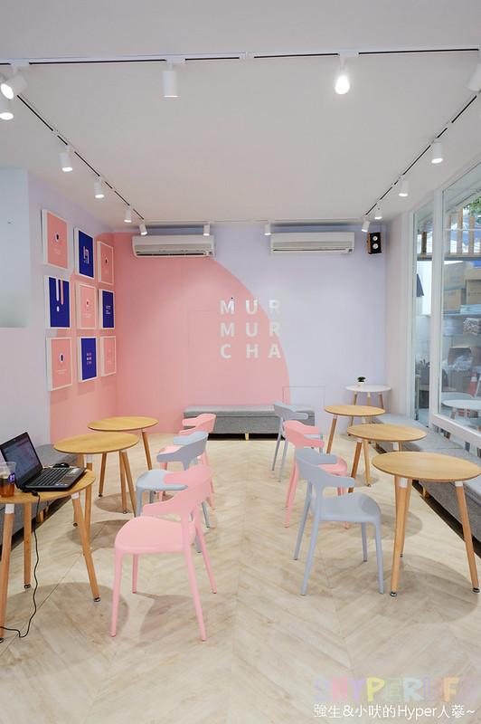 murmurcha│滿滿少女心的粉色系裝潢超網美風~特色奶蓋系列及多色創意刈包好吃又好玩 @強生與小吠的Hyper人蔘~