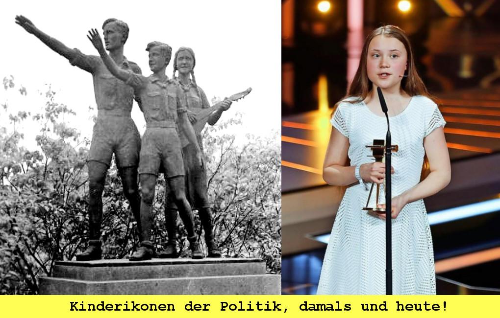 Kindliche Ikonen der Politik