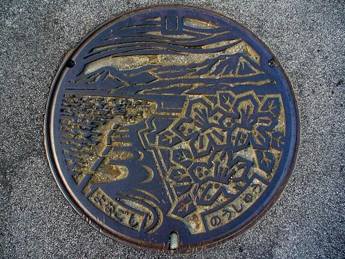 Yonago Tottori, manhole cover 2 (鳥取県米子市のマンホール2)