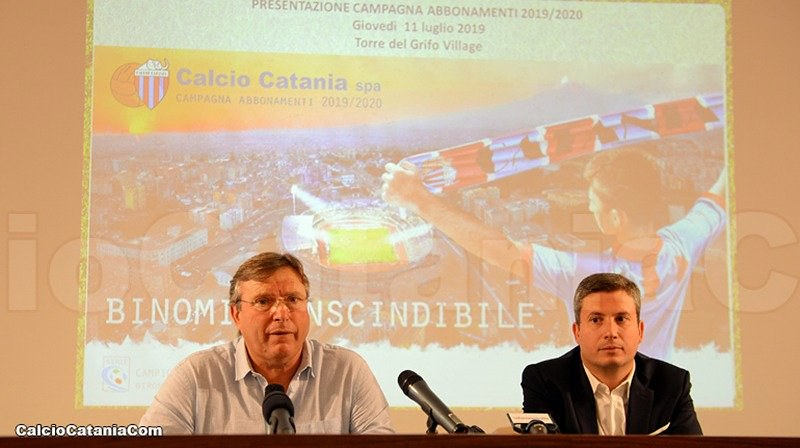 Pietro Lo Monaco e  Antonio Carbone oggi in sala congressi