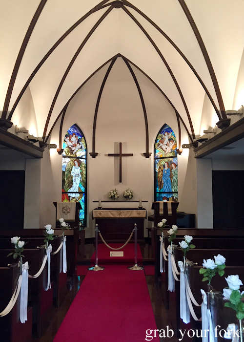 Inside Kyu-Karuizawa Chapel in Karuizawa that featured on Terrace House Opening New Doors