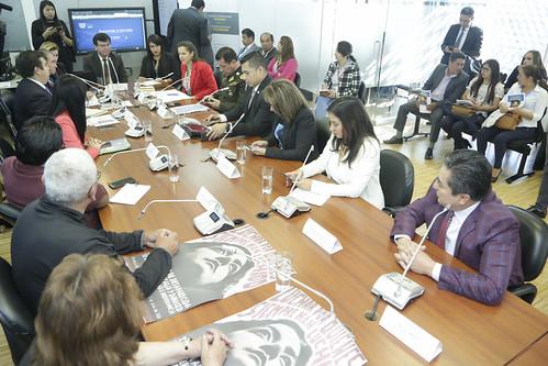 COMISIÓN OCASIONAL PARA ATENDER LOS CASOS DE PERSONAS DESAPARECIDAS RECIBE A MARÍA PAULA ROMO, MINISTRA DEL INTERIOR, QUITO 11 DE JULIO DEL 2019