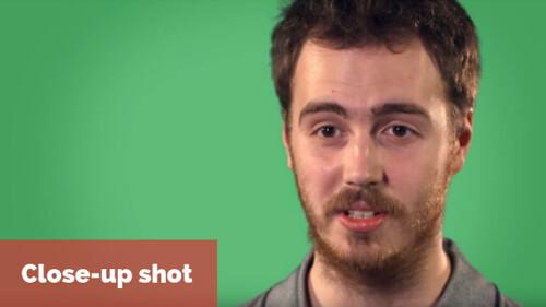 Video framing: example of close up shot