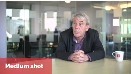 video framing: example of medium shot