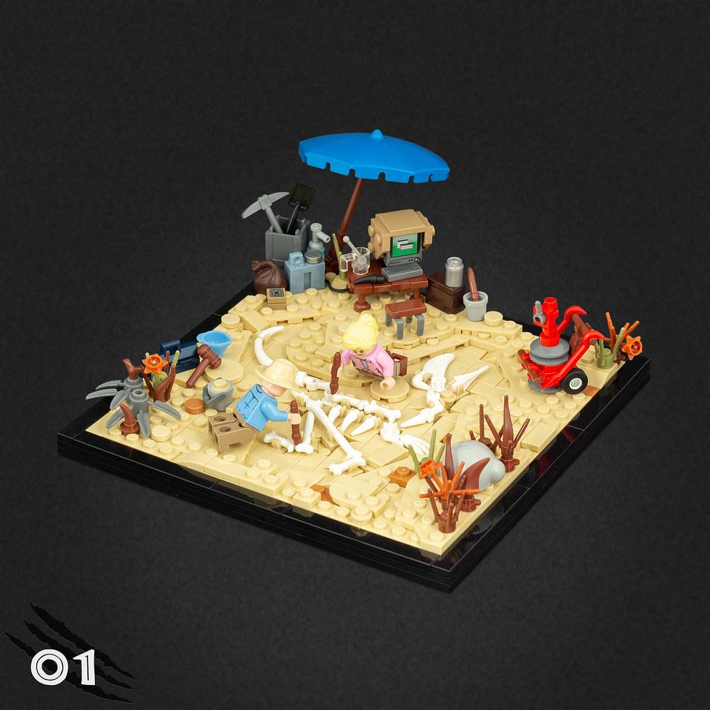 Dig Site (custom built Lego model)