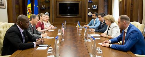 11.07.2019 Întrevedere Zinaida Greceanîi, Președintele Parlamentului , cu George Kent, Asistent adjunct pentru Afaceri Europene și Eurasiatice al Secretarului de Stat al SUA