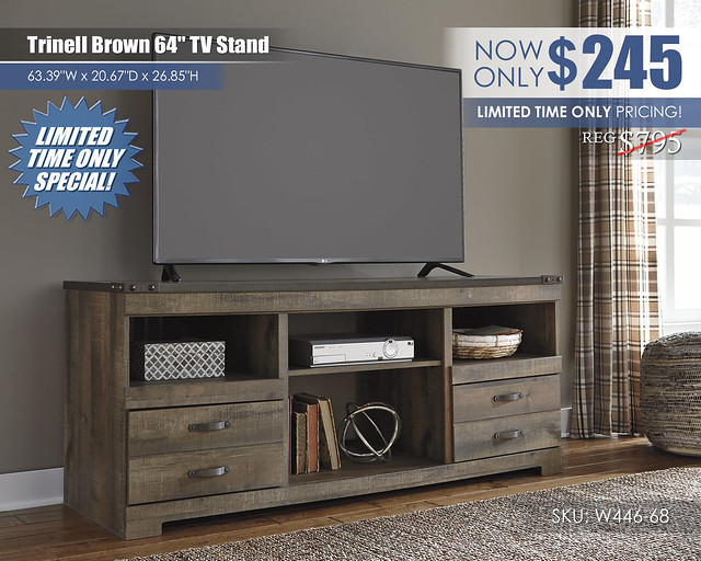 Trinell Brown TV Stand_W446-68_CLEARANCE