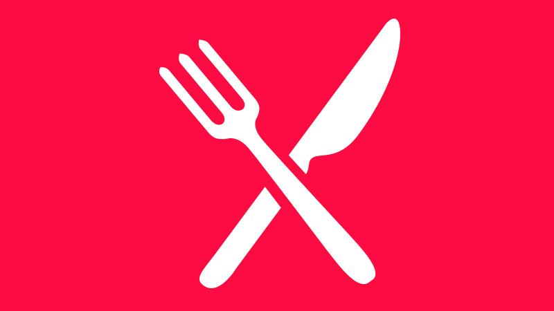 Knife and fork symbol.