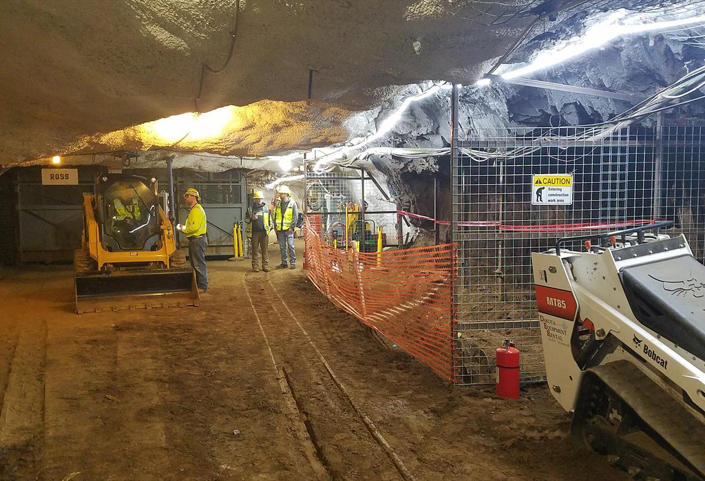 Working underground at Sanford Lab