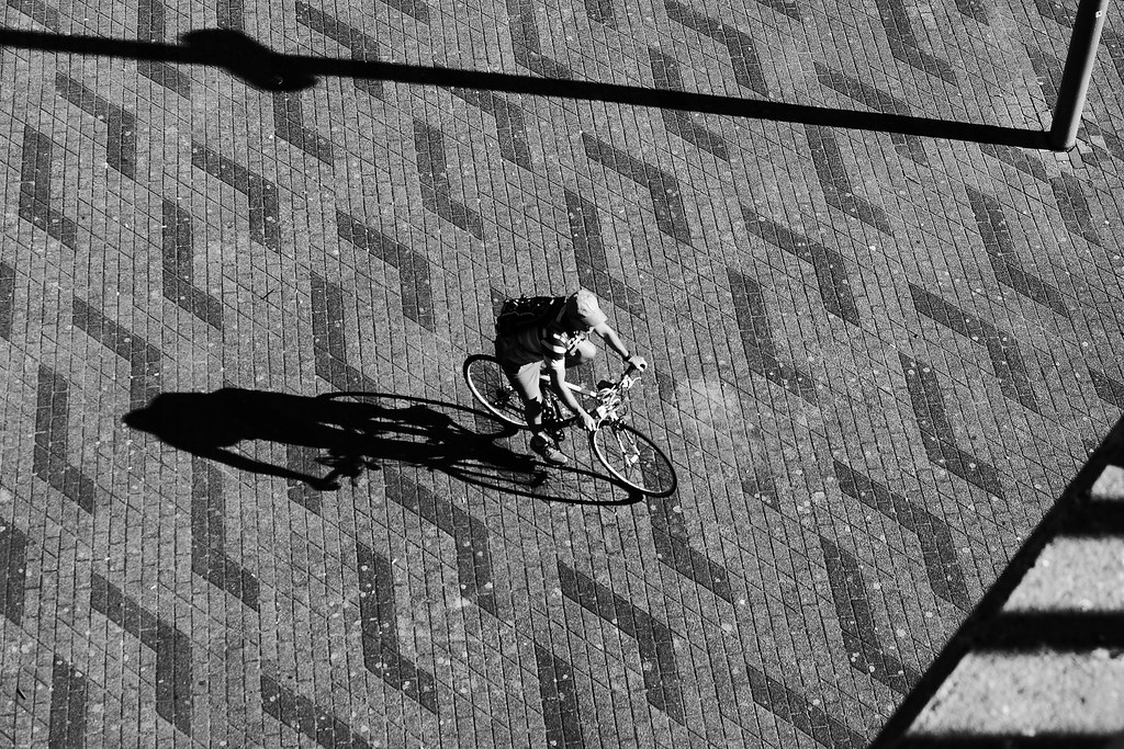 The shadow cyclist