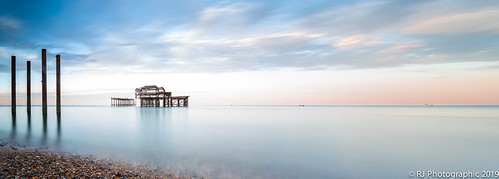brightonseascape longexposure pier recedingtide sunrise water west