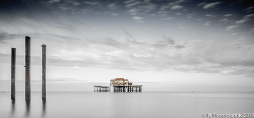 brightonseascape longexposure pier recedingtide sunrise water west