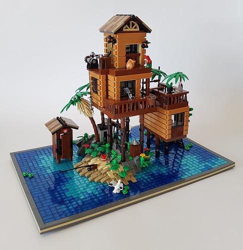 Loner's Paradise MOC. A tropical hide-away.