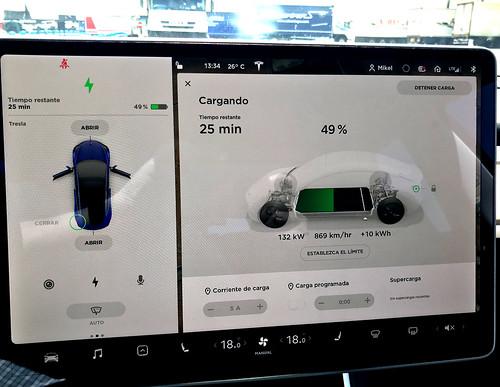 Récord de 132 kW de recarga para un Tesla Model 3 en Repsol Mobility