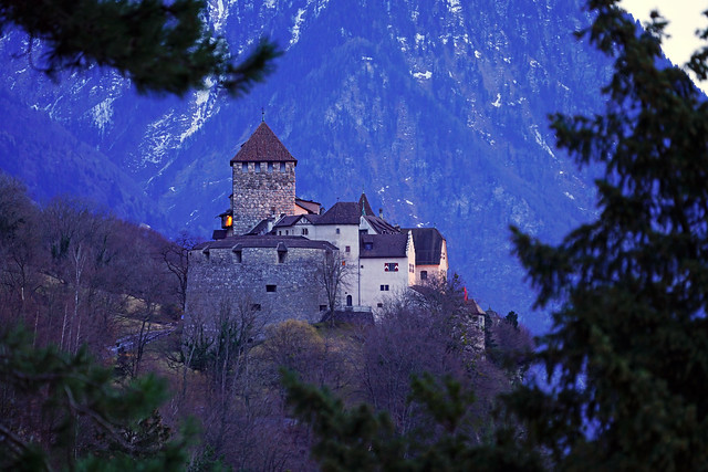 Vaduz Castle at twilight, Liechtenstein