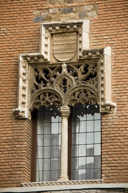 Audiencia Provincial ventana geminada Palacio de los Condes de Arcos Toledo
