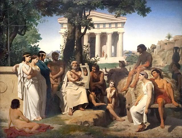 Homère chantant ses poèmes (exposition Homère, Louvre Lens)