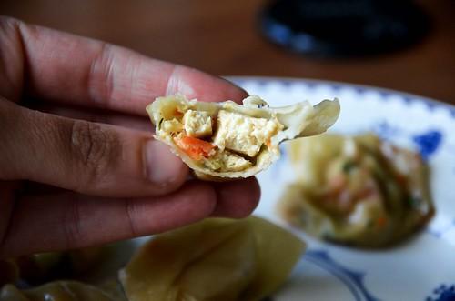 Vegetable Dumplings - inside