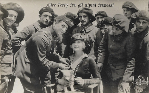 Alice Terry amidst the French Alpine Hunters (Mare Nostrum)