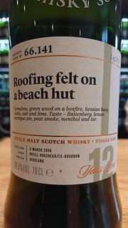 SMWS 66.141 - Roofing felt on a beach hut