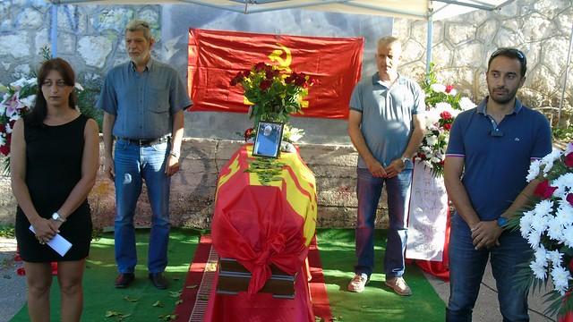 Πολιτική κηδεία Κώστα Κολυβά (Μπερδεμπέ)